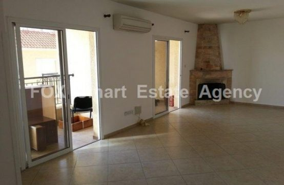Equipped 3 Bedroom Apartment in Agios Athanasios